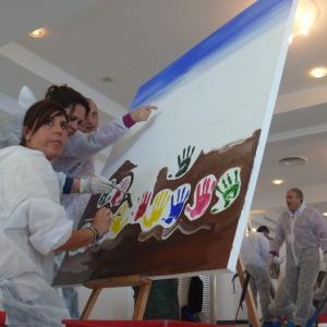 Pixel Painting by Eventi Aziendali MiLANO per esprimere la tua creatività