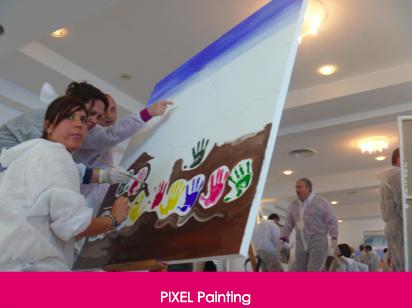 Creatività Esperienziale con Pixel Painting, a partire da  : 85€