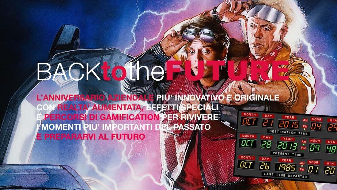 Back to the Future Team Building per anniversari aziendali