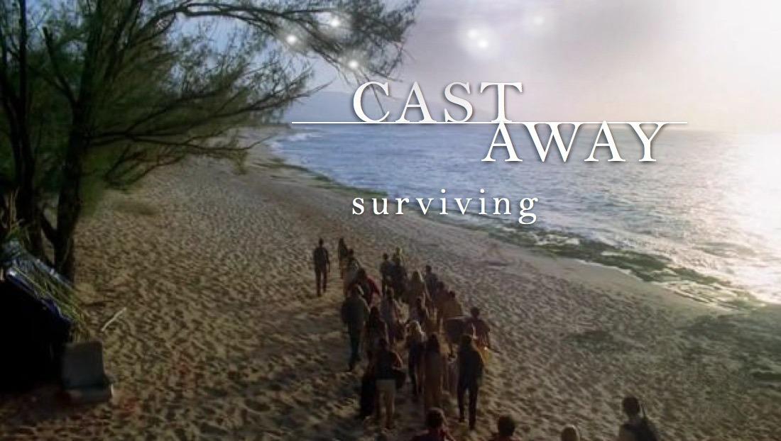 Castaway-Surviving-team-building-L'alba-del-giorno-dopo-del-naufragio-sopravvivere-con-le-risorse-disponibili
